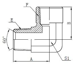 90 graduko American Adapter Drawing