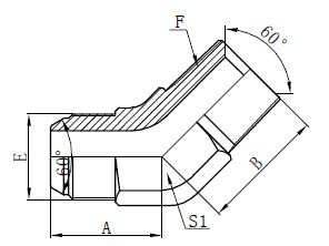 JIS GAS Elbow Connectors Drawing