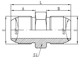JIS Metrik Male Adapters Drawing