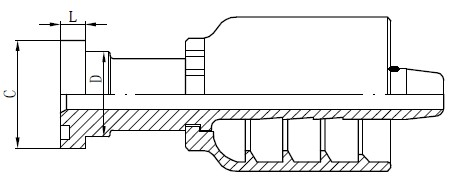 SS Tube Connector Drawing